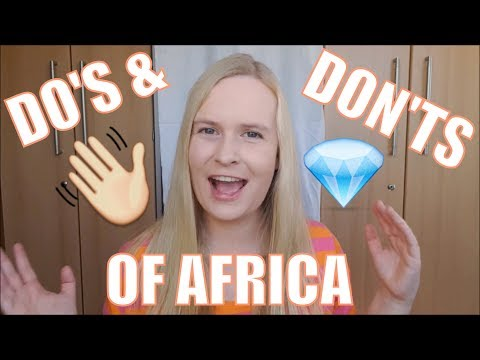 Africa Travel Tips - Do's and Don'ts