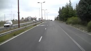 Blagoevgrad Bulgarien, Mit dem LKW an der Polizei kontrolle vorbei