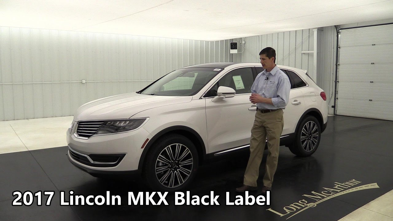 2017 Lincoln Mkx Black Label Fwd Indulgence 17506t