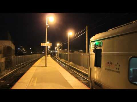 LIRR: Double M7s at Far Rockaway Terminal @ Night