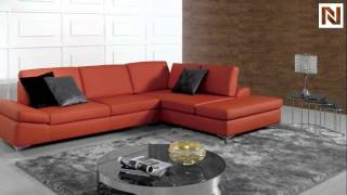 Modern Red Bonded Leather Sectional Sofa Vgknk8382 From Vig Furniture