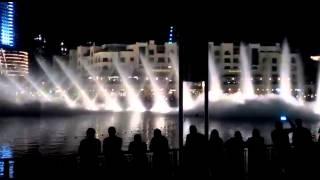Water Fountain Show in Dubai Mall