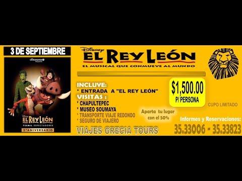 EL REY LEÓN* EL MUSICAL*  PRÓXIMA SALIDA 3 SEP 2017