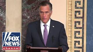 Mitt Romney speaks in support of Amy Coney Barrett