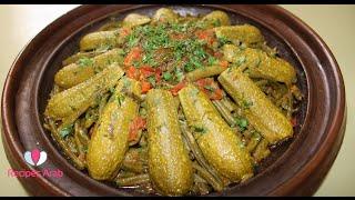 تحضير طاجين اللحم باللوبيا الخضراء علي الطريقة المغربية روعة