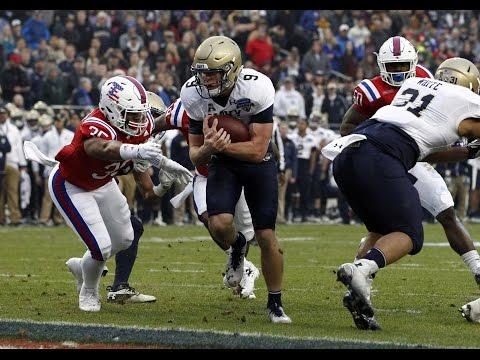 2016 American Football Highlights - Louisiana Tech 48, Navy 45