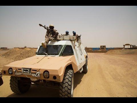 Kidal la MINUSMA patrouille pour sécuriser les populations.