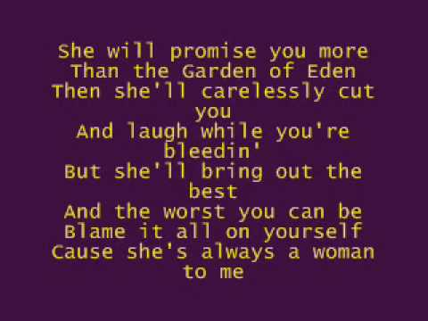 She's Always A Woman - Fyfe Dangerfield - Lyrics - YouTube
