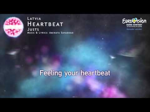 Justs - Heartbeat (Latvia) - [Karaoke version]