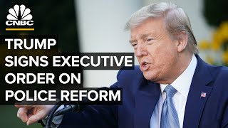 President Donald Trump signs executive order on police reform - 6/16/2020