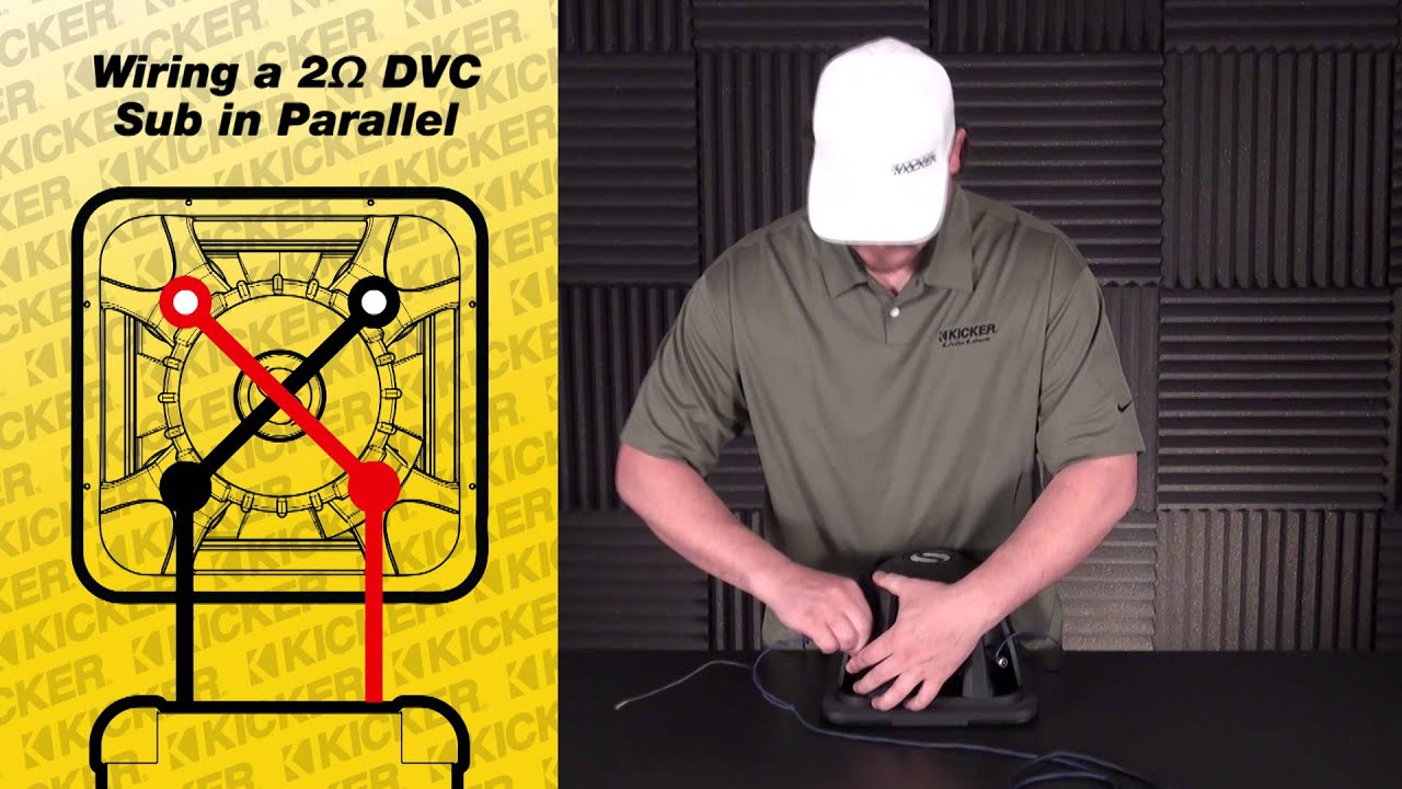 Subwoofer Wiring: One 2ohm Dual Voice Coil Subwoofer in Parallel  YouTube