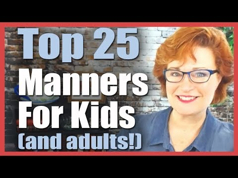�� Top 25 Manners for Kids, Toddlers, and Adults! �� | Colleen Hammond