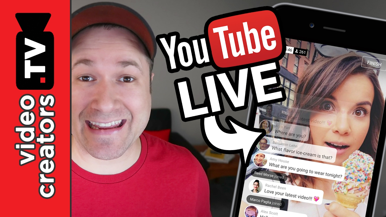 How To Do A Mobile Live Stream On Youtube Youtube