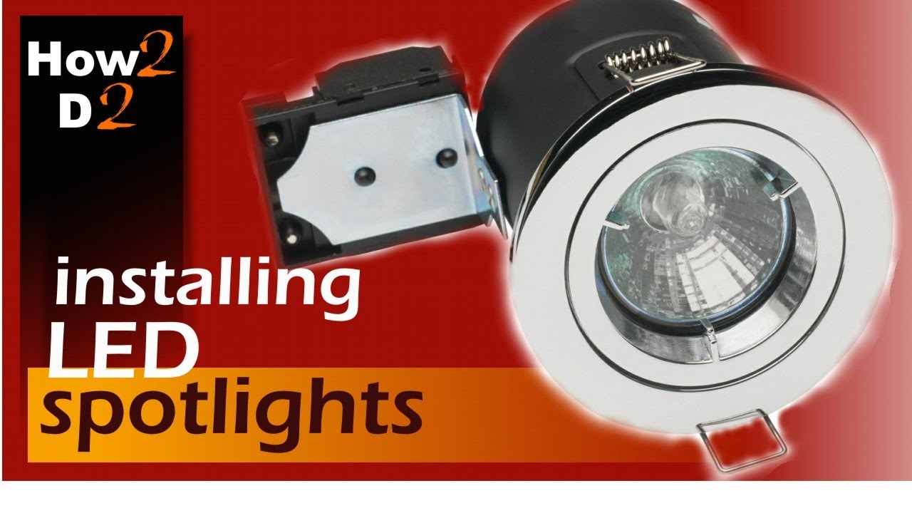 Downlights Installation How to wire spotlights - YouTube