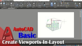Create ViewPorts Layout In AutoCAD WIth Mview Command