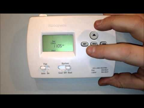How To Program The Honeywell Th4000 Thermostat