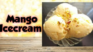 #summerrecipe #mango #mangoicecream Mango Ice Cream In Telugu  How to make mango ice cream in telugu