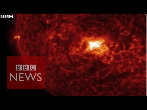 Nasa Releases Incredible Solar Flare Footage - BBC News