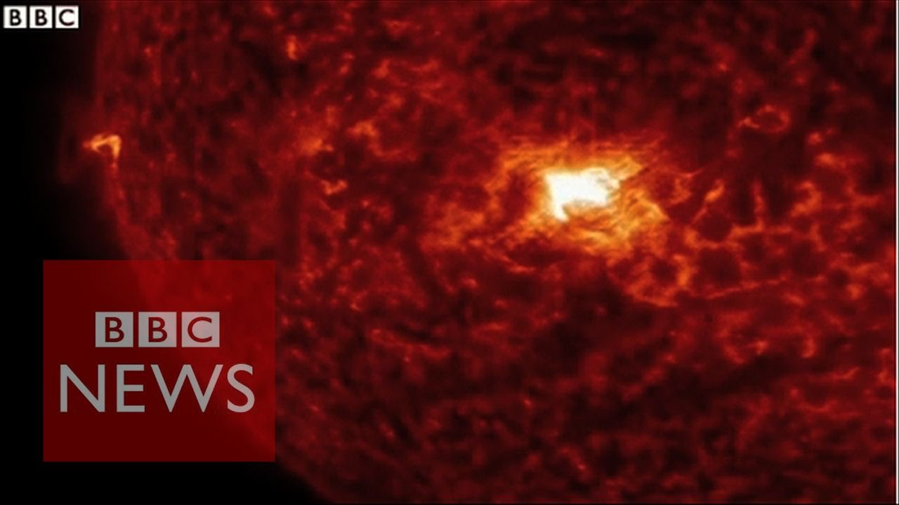 Nasa Releases Incredible Solar Flare Footage Bbc News