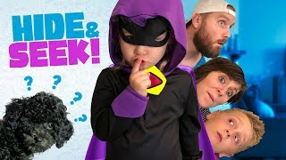 HIDE and SEEK, Raven Sneaks with DOGCITY! Family Game for Kids!