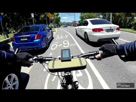 eBike commute - 34km trip to Brisbane and back