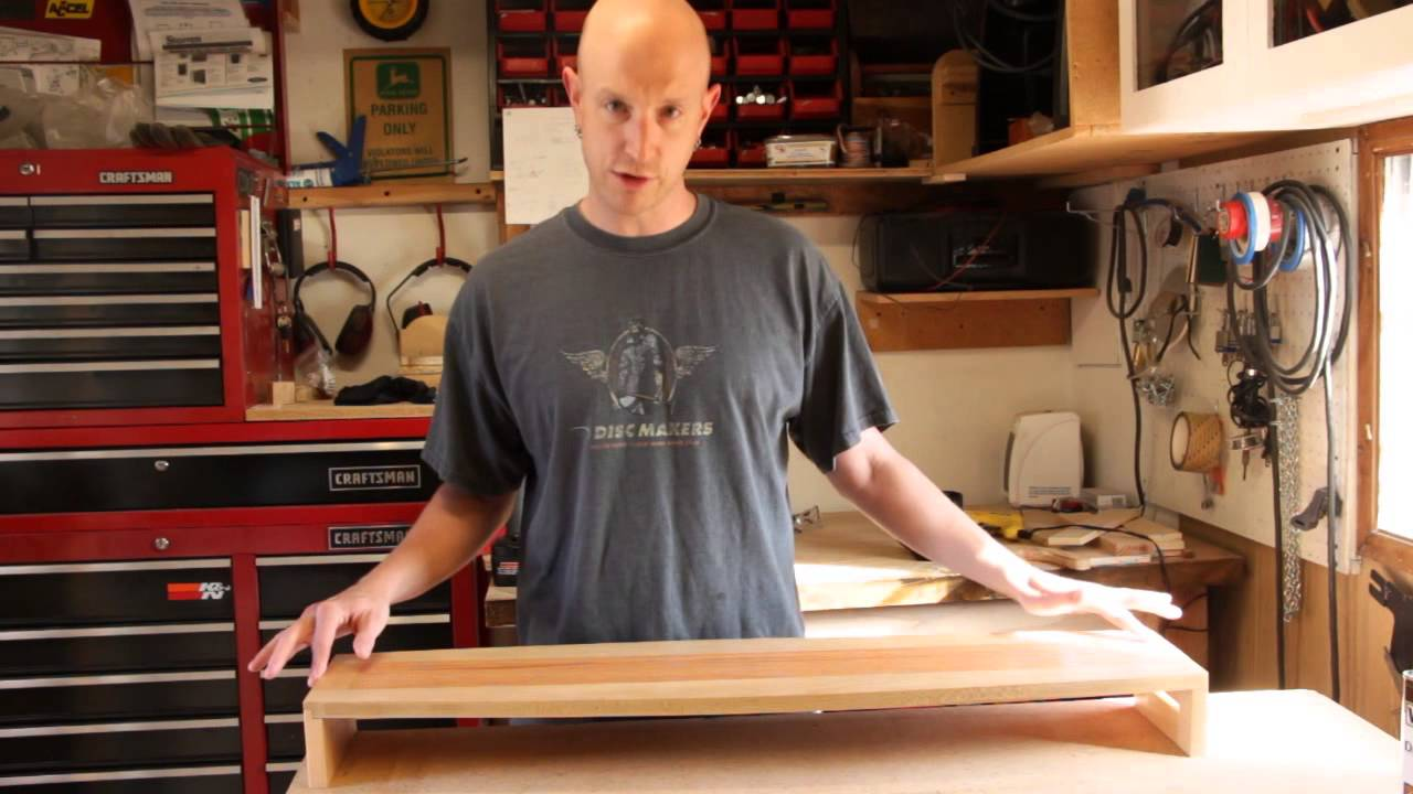 How to Build a Computer Monitor Stand - YouTube