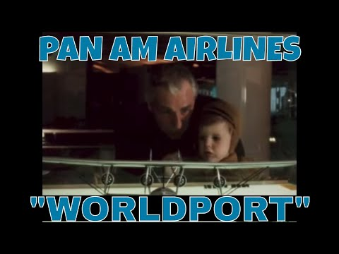 "PAN AM AIRLINES JFK AIRPORT 1960 ""WORLDPORT"" PROMO FILM w/ BOEING 707   72382"