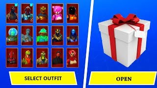 GIFTING ALL MY SKINS IN FORTNITE!