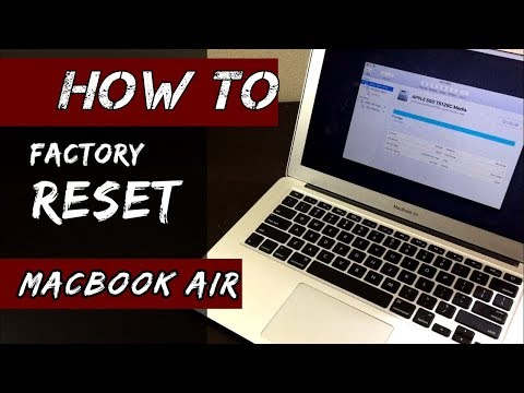 How do i reset macbook air