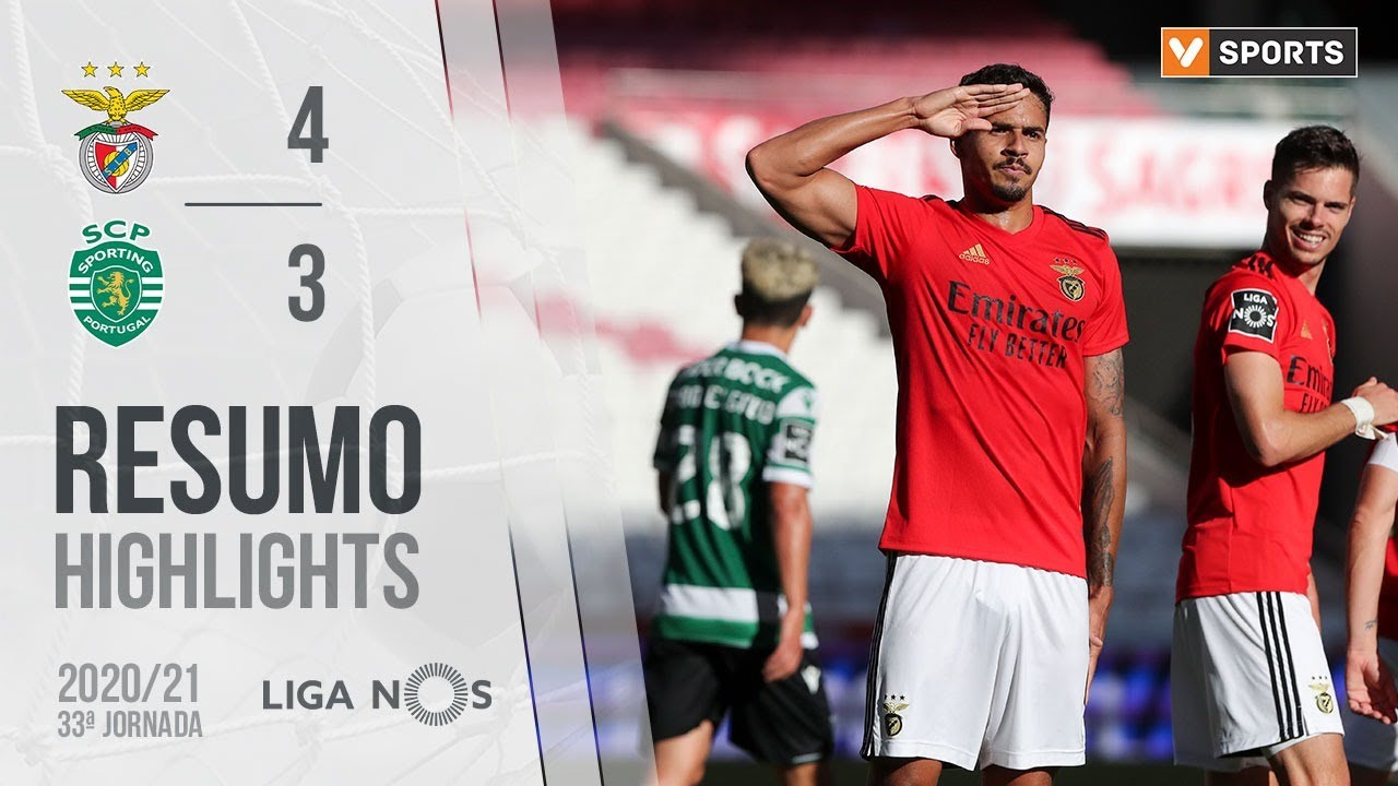 Highlights Resumo Benfica 4 3 Sporting Liga 20 21 33 Youtube