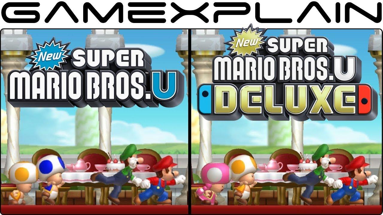 New Super Mario Bros  U Deluxe - Switch Vs  Wii U Graphics Comparison