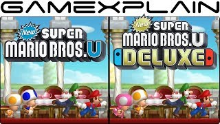 New Super Mario Bros. U Deluxe - Switch Vs. Wii U Graphics Comparison