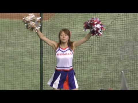 cheer squad dance excitement&funny♪Japanese car manufacturer baseball team cheerleader♥♥♥♥♥♥