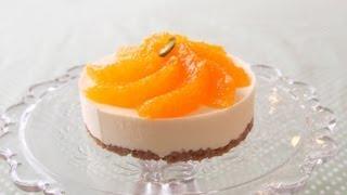 【スイーツレシピ】オレンジレアチーズタルト Orange Gelatin Cheesecake