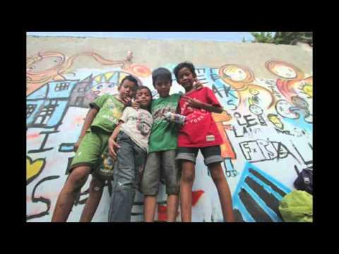 medan street art kids