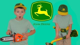 Little Heroes John Deere Power Trimmer Unboxing + Husqvarna Chainsaw Unboxing and Review thumbnail