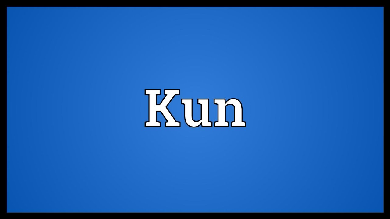 Kun - what is the meaning of a word, uses 47