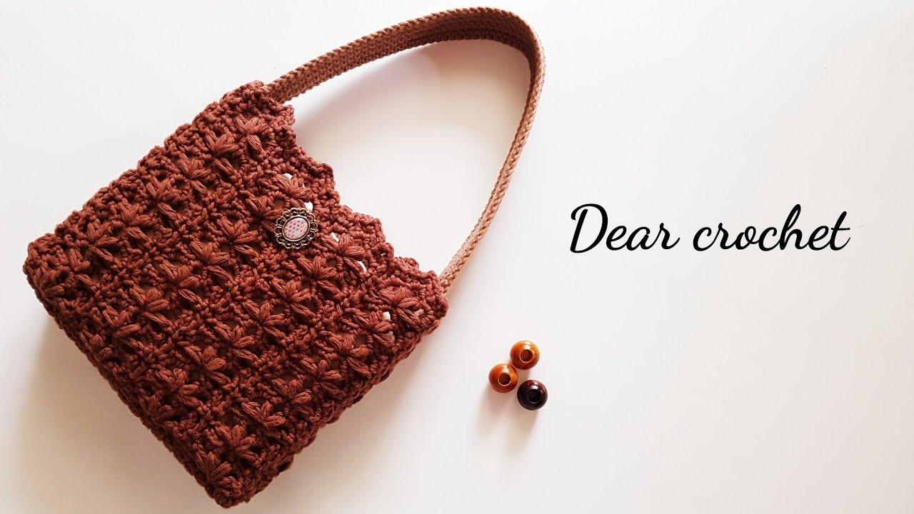 [코바늘 가방] 폼 플라워 가방뜨기 (crochet flower bag)