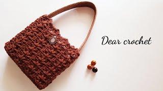 [코바늘 가방] 폼 플라워 가방뜨기 (crochet f…