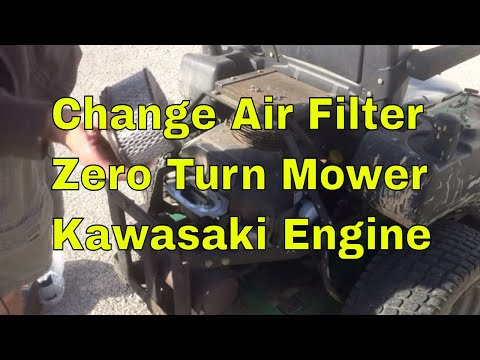 How to Change the Air Filter on a Zero Turn Mower - Kawasaki Engine