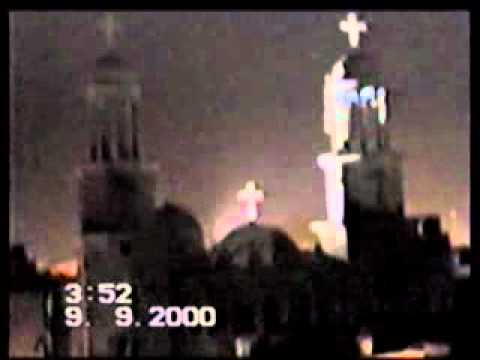 Apparition of virgin. Mary,s lights over st.Mark Coptic church in asyout egypt y.2000.flv
