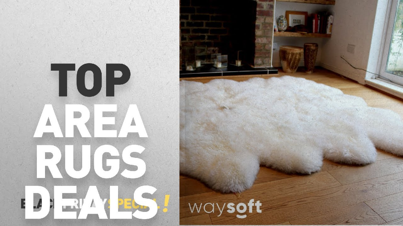 Black Friday Area Rugs Deals Waysoft 100 Natural Genuine