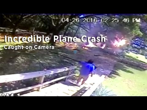 Amazing footage shows pilot walk away from plane crash in Foley, Alabama