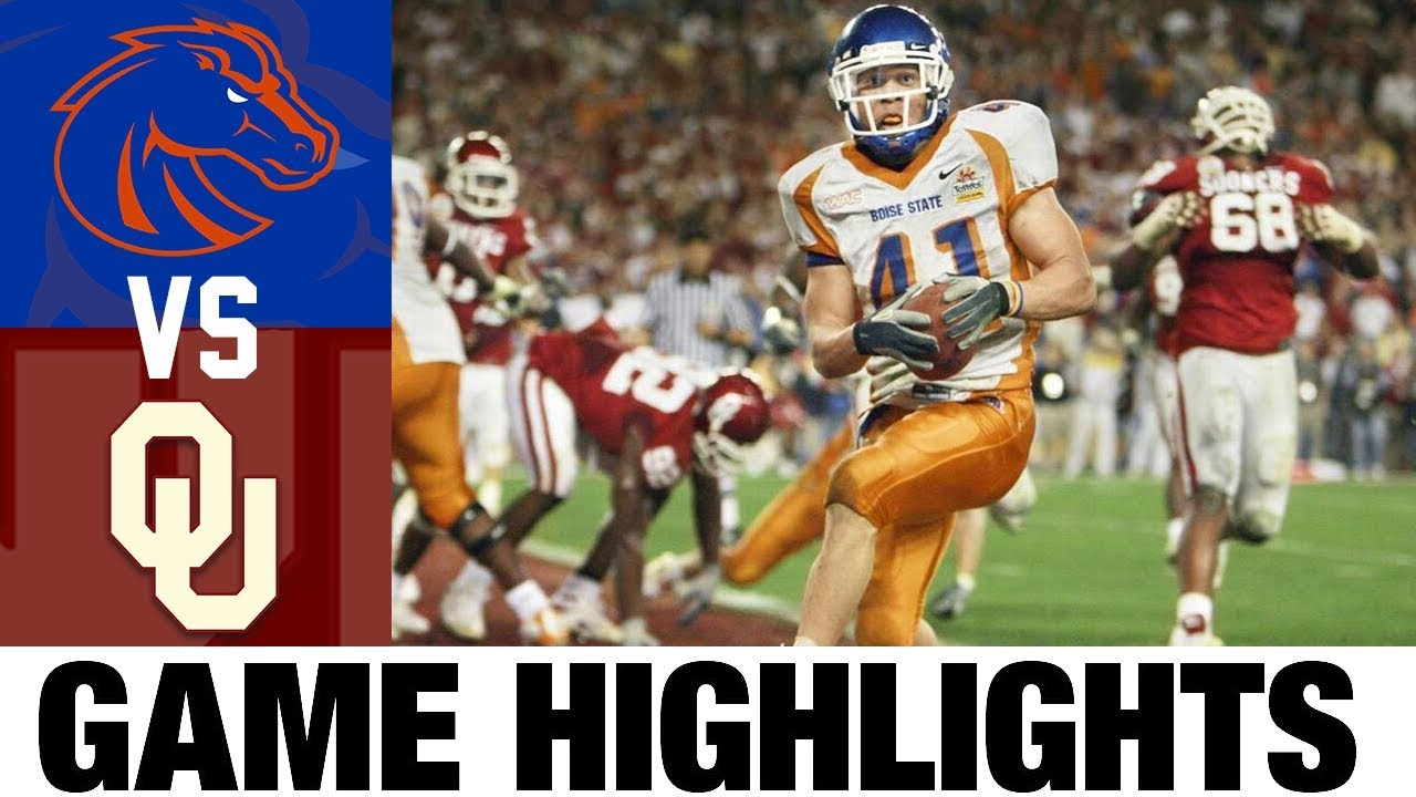 #9 Boise State vs #7 Oklahoma |2007 Fiesta Bowl | 2000's Games of the Decade