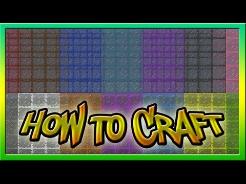 How To Make Stained Glass In Minecraft 1 7 Youtube
