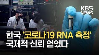 국내 개발 '바이러스 RNA 측정법' 국제 표준 인정 / KBS