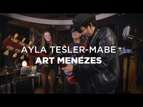 Ayla Tesler-Mabe (Calpurnia) and Art Menezes (GUITAR BATTLE)