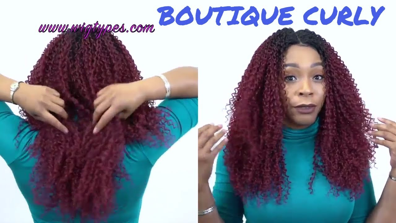 Outre Brazilian Boutique Lace Front Wig Curly 4 Inch Deep Lace