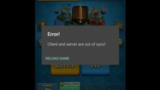How to fix client and server are out of sync problem in clash royale