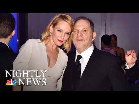 Uma Thurman Breaks Silence And Slams Harvey Weinstein  NBC Nightly